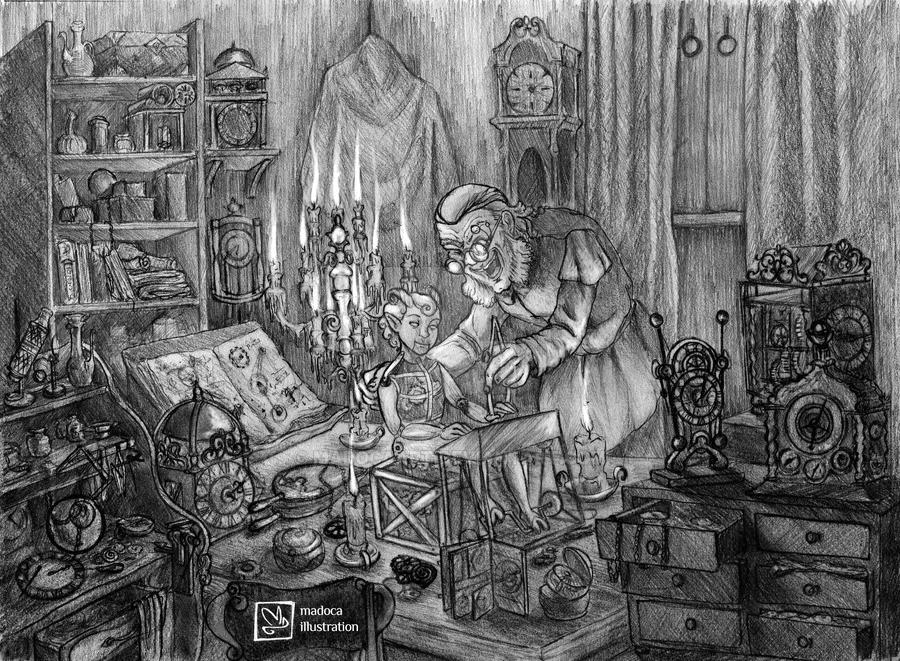 Mad Clockmaker by MadocaArt