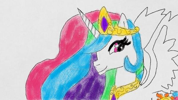 Princess Celestia by sofiyo