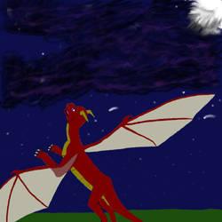 random night flight by taull01