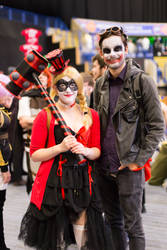Harley Quinn and The Joker by AshleyReeve