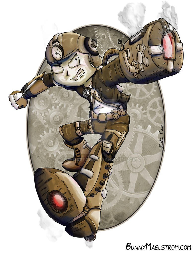 Steampunk Megaman by thedustud