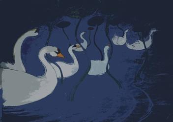 Swans by Alkaide1107