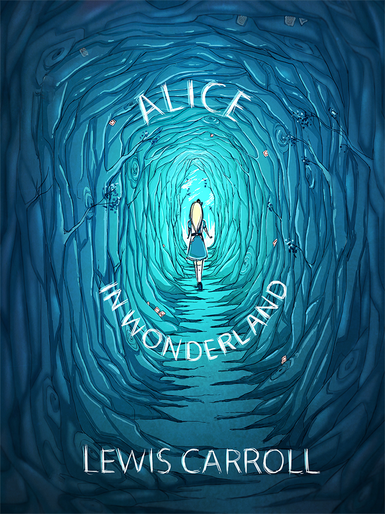 Alice In Wonderland Book Cover Designs : Raeldanger illustrated book cover research for alice s