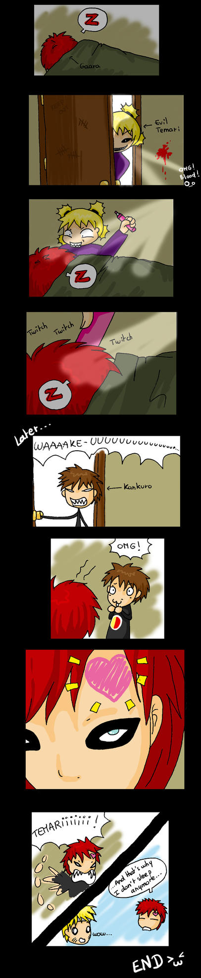 Gaara's childhood -- colored by Japanfanzz