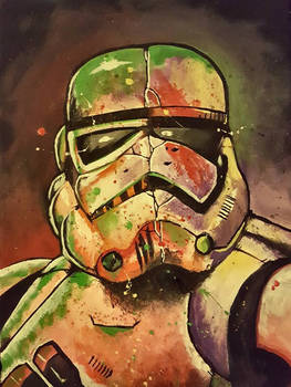 Canvas Painting - Stormtrooper