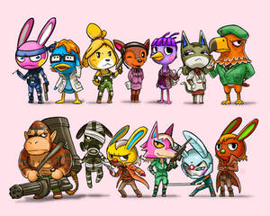 Animal Crossing x Metal Gear Solid Lineup