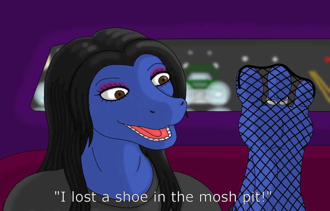 Lost her shoe at the show (Redrawn) by LQCTim
