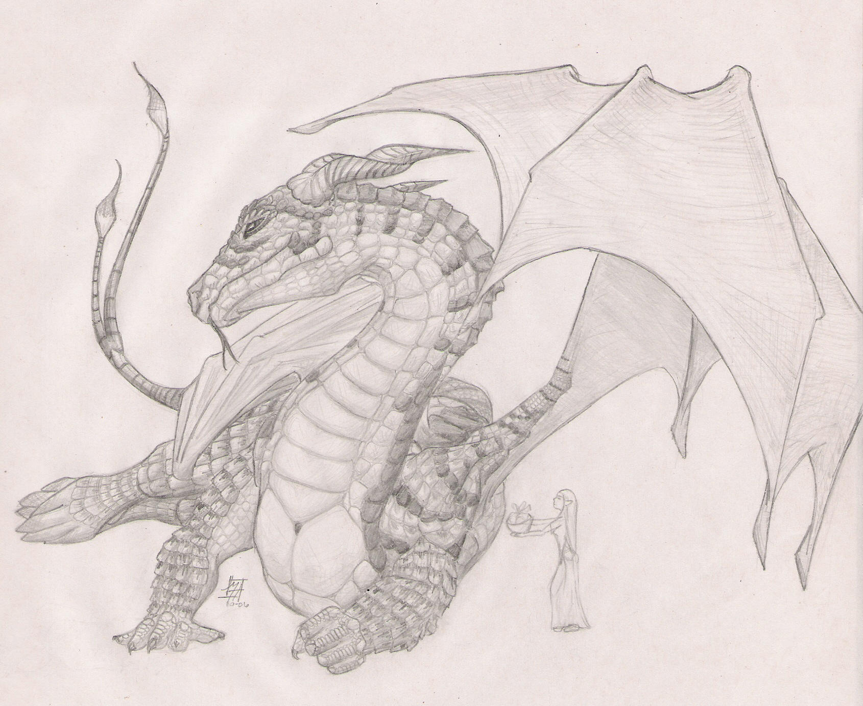 Dragon by hawkthing