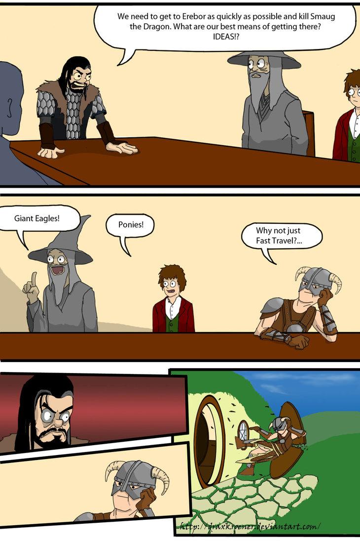 Hobbit/ Skyrim crossover Meme by DraxKroener on DeviantArt