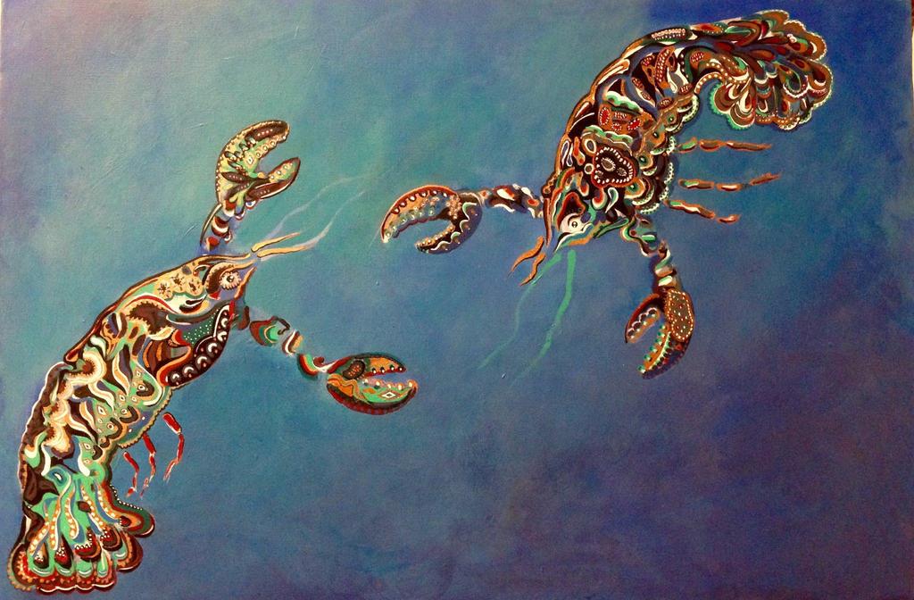 Lobsterpainting by nicolecurcis
