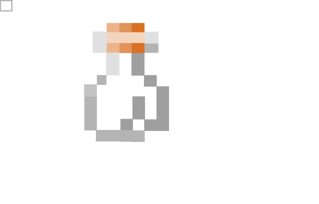 Minecraft Glass Bottle by thefunny711 on DeviantArt