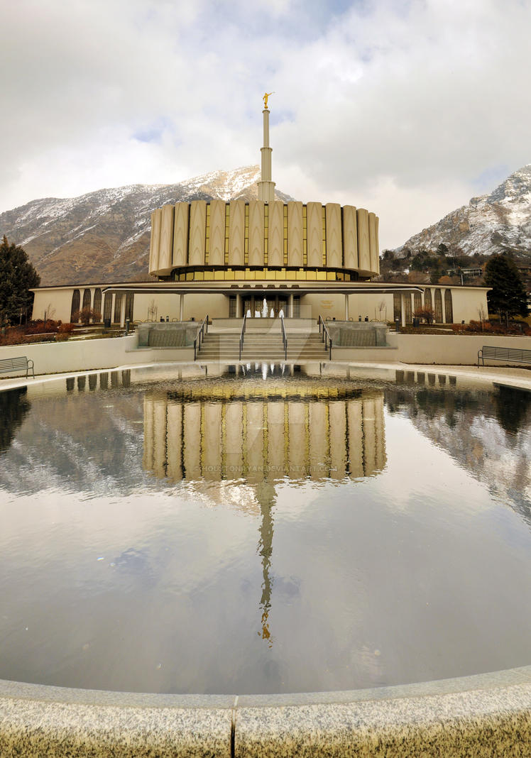 Provo Temple LDS Reflected Pon by houstonryan