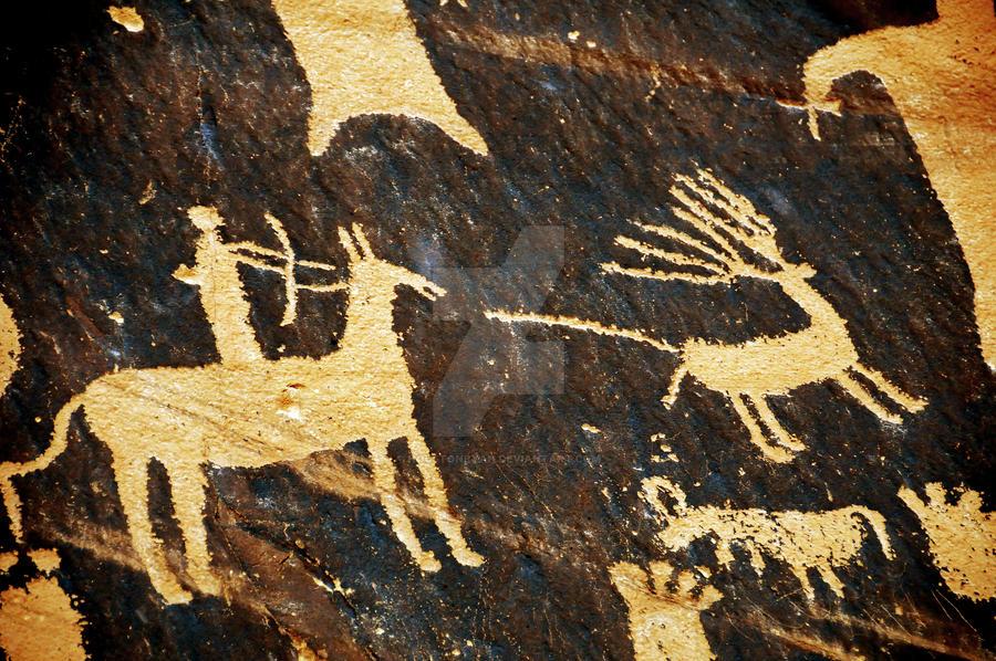 The Hunter Petroglyph Newspape by houstonryan