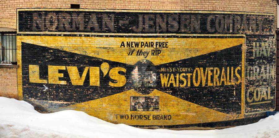 Levi Jeans Mural Eureka Utah by houstonryan