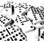 Dominoes Black and White Study by houstonryan