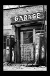 Scipio sinclair gas station bw
