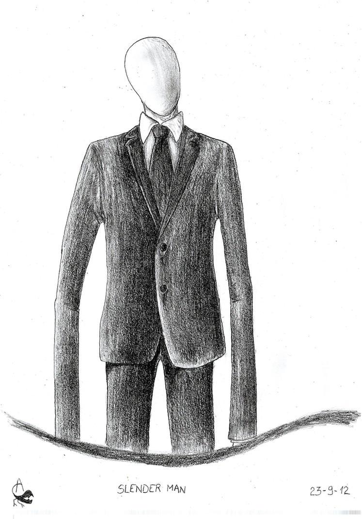 Slender man by Xezansaur