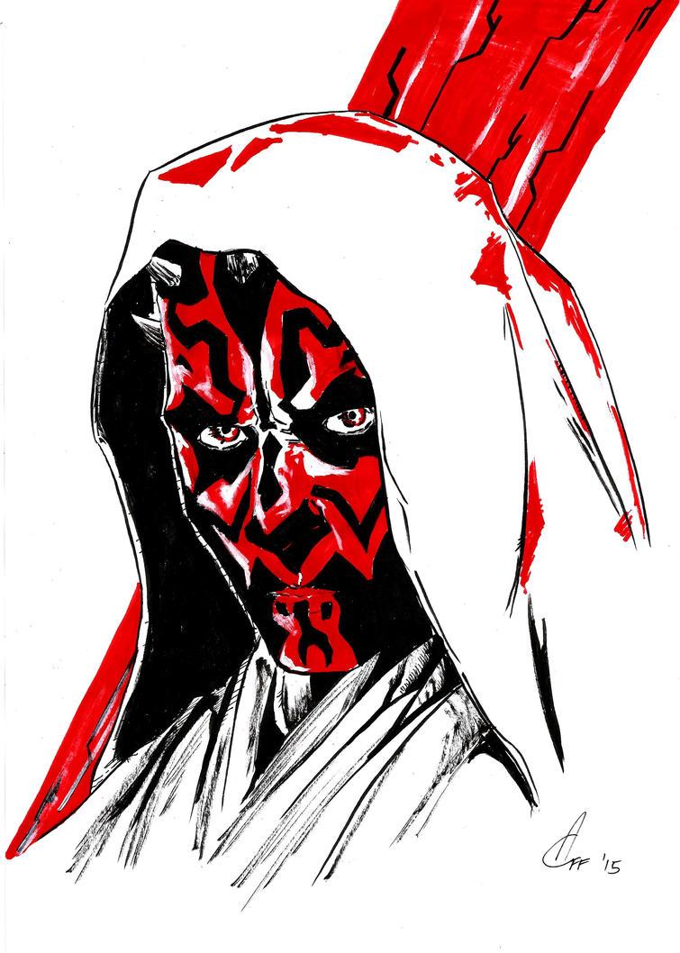 Darth Maul sketch by Xezansaur