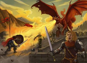 Dragon attack by JonayMartin