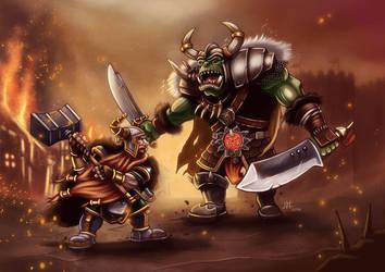 Warhammer duel by JonayMartin