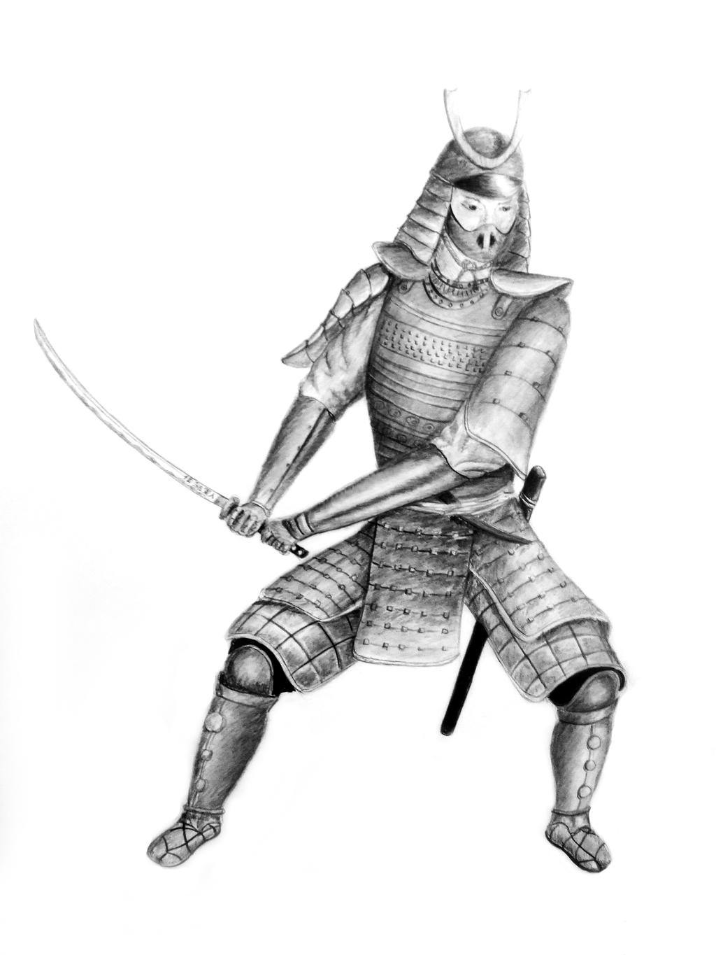 It's just a photo of Clever Samurai Warrior Drawing