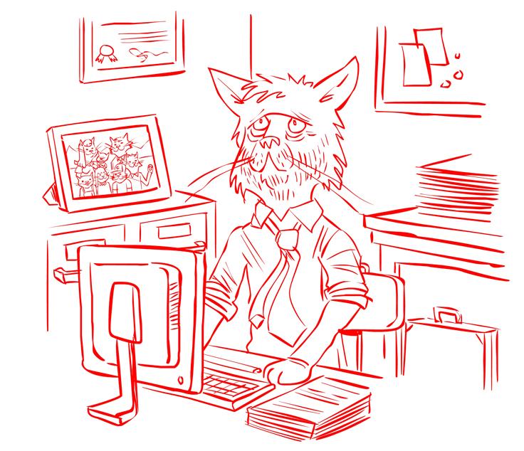 Office Cat 15 by BrendanTobin