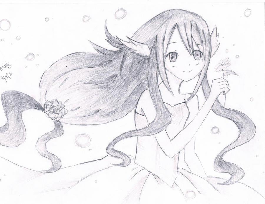 Flower girl sketch by sakushita