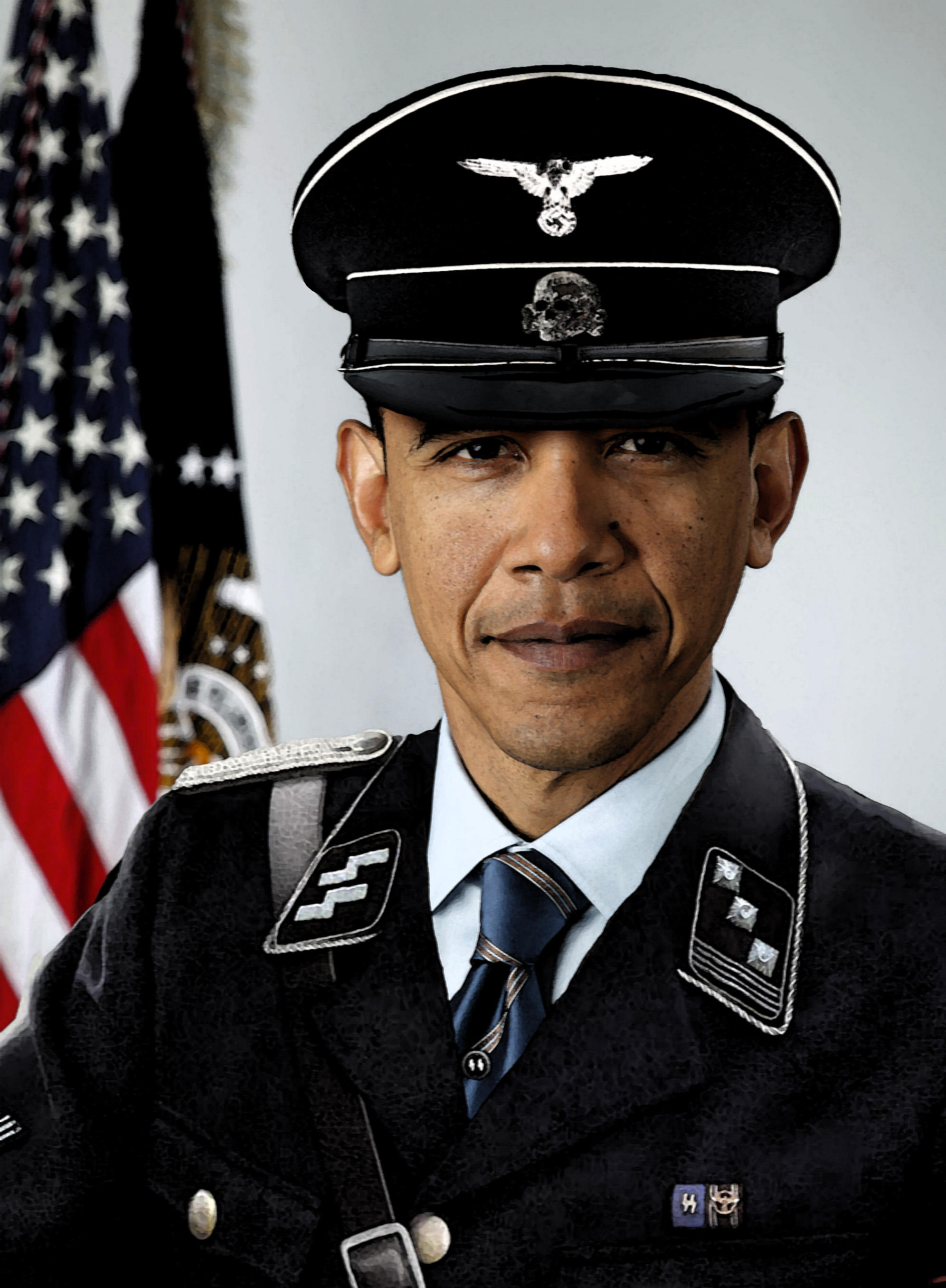 Nazi SS Obama by TheHappyDare on DeviantArt