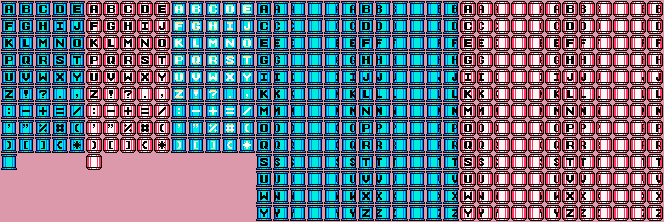 Font of Mega Man tanks by BBLIR
