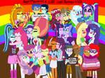 Equestria Girls Celebrates LGBT Pride by kTd1993