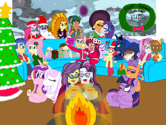 Merry Christmas In July from kTd1993 and MLP EqG by kTd1993