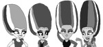 Twilight x Dazzlings as Frankensteins' Brides (BW  by kTd1993