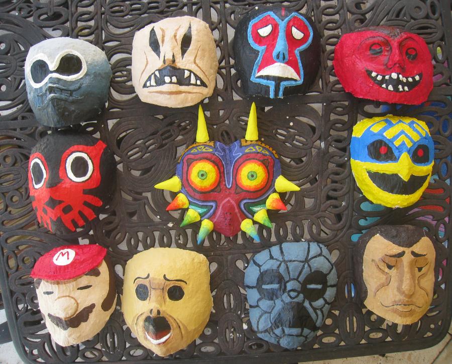 - Happy Mask Salesman Masks - by Kanti-Kane