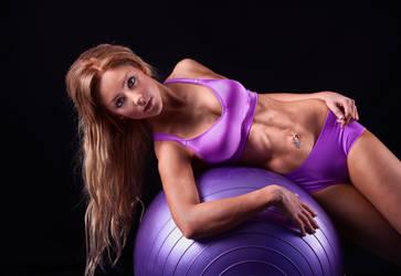 Purple Fitball
