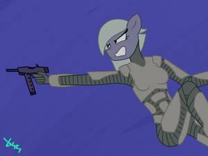 Limestone Pie - armored, with a gun