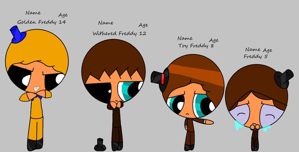All The Freddys As Children By Acoolnes On Deviantart