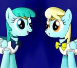 Medley and Sassaflash as Sailor Senshi