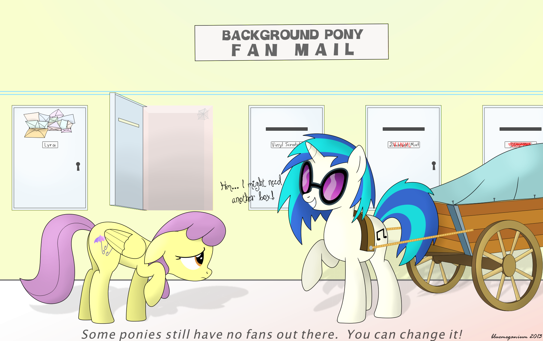 Background Pony Fan Mail by bluemeganium