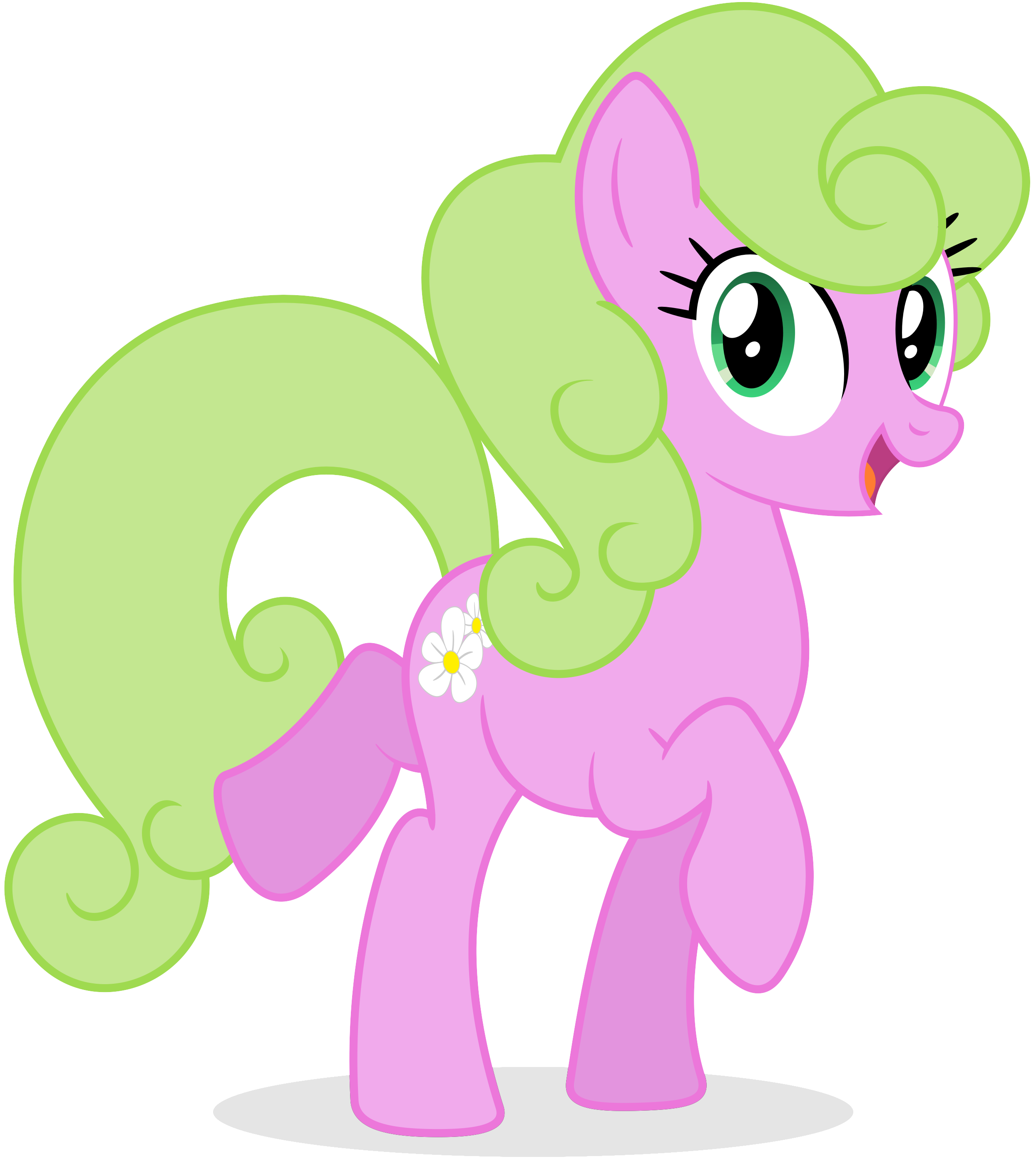 Daisy as seen on an album cover by bluemeganium on DeviantArt Flower Wishes Mlp