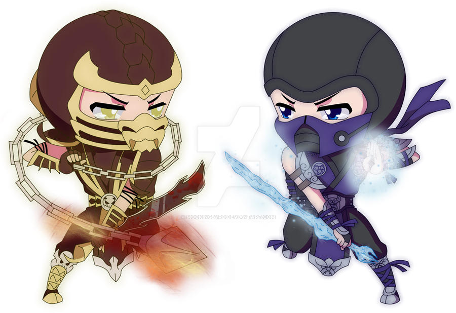 Scorpion VS. Sub-Zero by Mockingbyrd