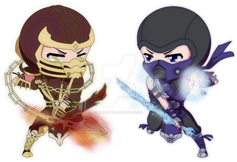 Scorpion VS. Sub-Zero by Mockingbyrd