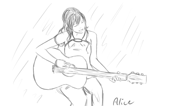 Girl Singing With A Guitar By Kittyangelz3 On DeviantArt