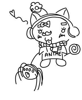Alice's and Kitty's deviant art avi line art