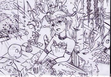 Studying fantasy by Kittyangelz3