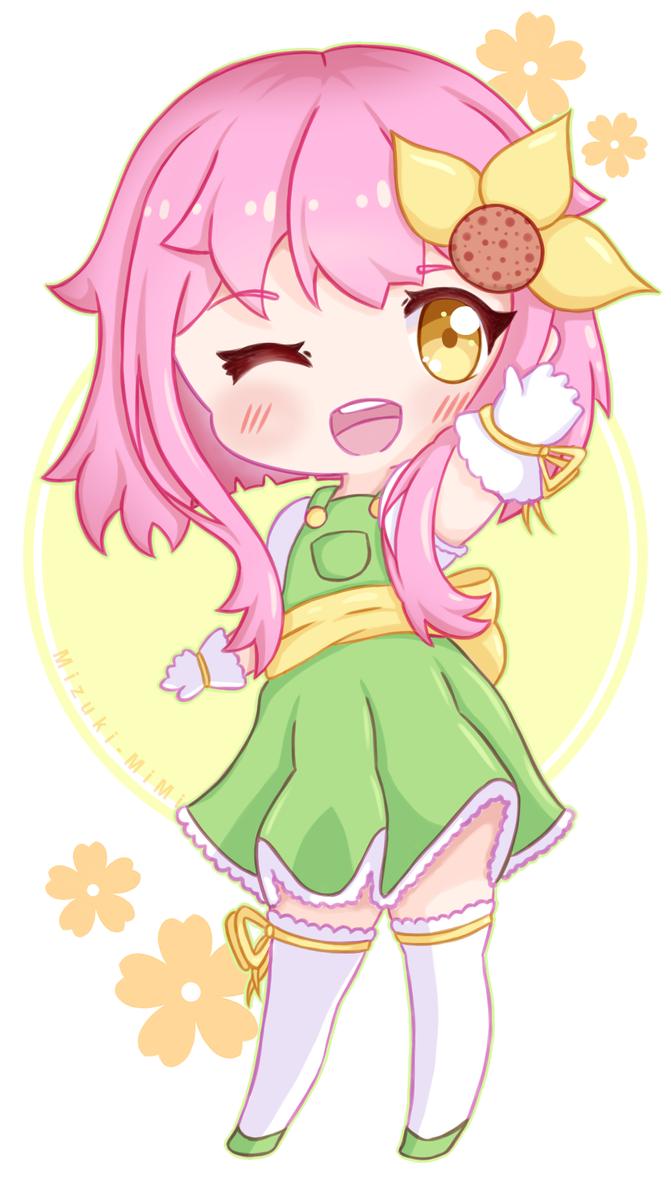 Magical Girl Flora (Redraw) by Mizuki-MiMi