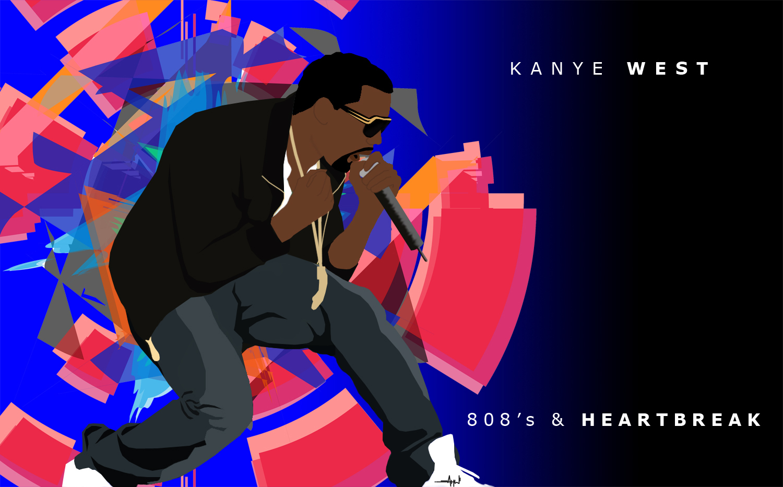 Kanye west 808s & heartbreak (2xlp deluxe edition + poster + bonus.