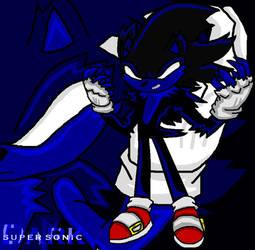 Dark Super Sonic by TrueblueSonic