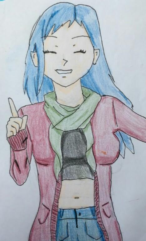 Blue haired anime/manga girl by Elvisa88