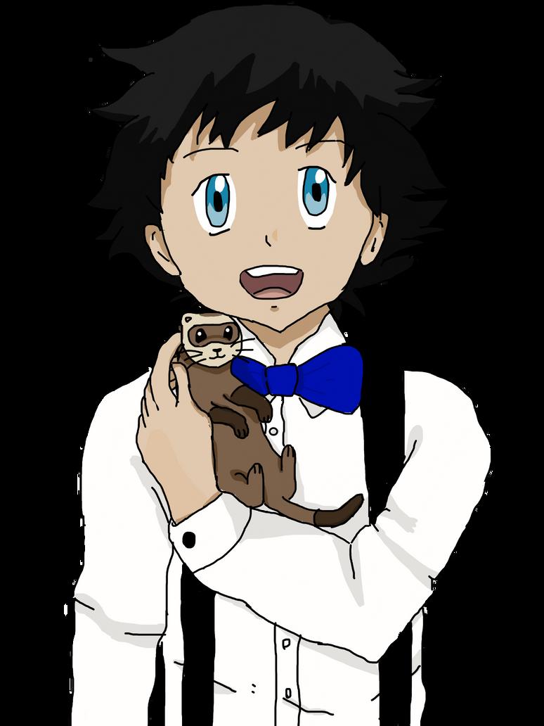 Prom boy with ferret by Elvisa88