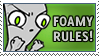 Foamy Rules Stamp by kuro-stamps